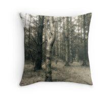 Pine Tree Grove Goll Woods Throw Pillow