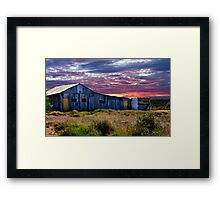 Barn at Sunset Framed Print