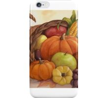 Cornucopia - harvest bounty. iPhone Case/Skin