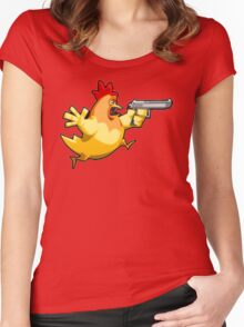 Counter-Strike: Naked Chicken Women's Fitted Scoop T-Shirt