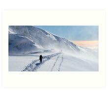 Scottish Alps - The Col below Aonach Beag Art Print
