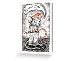 Mousy Christmas - candycanes aren't just for humans! Greeting Card
