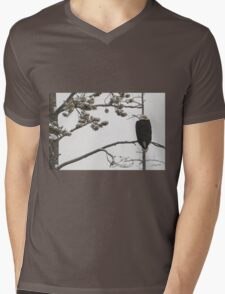Winter Perch Mens V-Neck T-Shirt