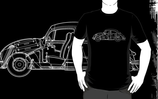 Volkswagen Blueprint - dark tee by Sarah Caudle