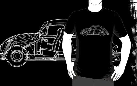 Volkswagen Blueprint - dark tee by Sarah Caudle