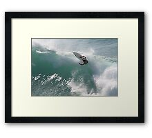 Surfing Jaws Framed Print