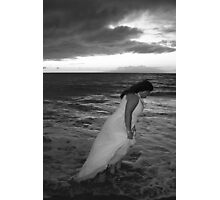 Stormy Bride Photographic Print