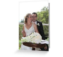 A Lovely 'Just Married' Couple Greeting Card