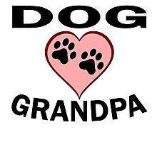 Dog Grandpa Photographic Print