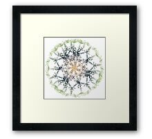 Kaleidoscope of Guitar and Music Notes Framed Print