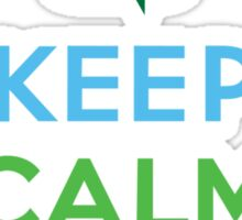 Keep Calm and Recycle - light Sticker