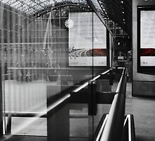 Empty Reflections Of St.Pancras. by Ruth Jones