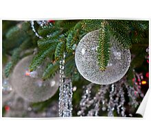Crystal Holiday Ornaments Poster