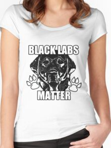 BLACK LABS MATTER 2 Women's Fitted Scoop T-Shirt