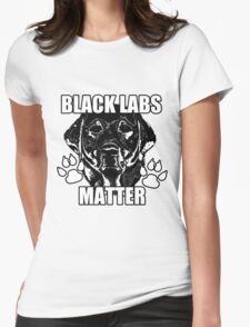 BLACK LABS MATTER 2 Womens Fitted T-Shirt