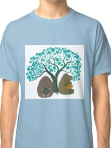 Two Hippos Under The Tree. Classic T-Shirt