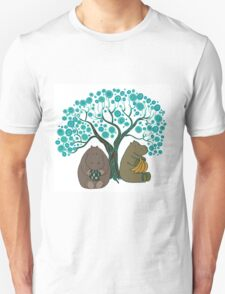 Two Hippos Under The Tree. Unisex T-Shirt