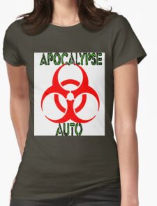 apocalypse auto sticker Womens Fitted T-Shirt