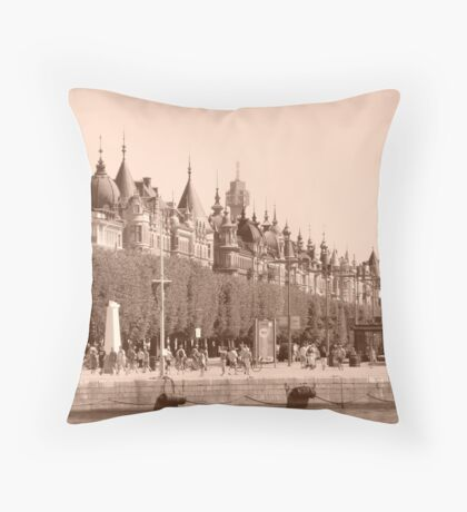 Stockholm Roof Tops Throw Pillow