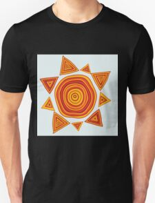 Ethnic style hand drawn print of Sun  Unisex T-Shirt