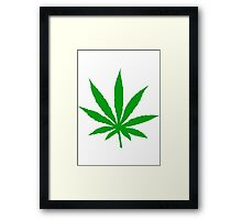 Marijuana Leaf Framed Print