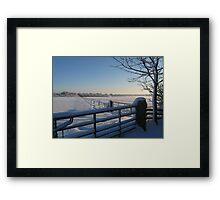 Snowy Gates Framed Print