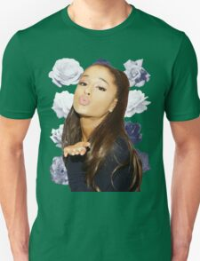 Ariana Grande - Navy Flowers T-Shirt