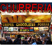 Dos churros con crema, por favor! Photographic Print