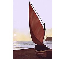 Red Sail in the Sunset Photographic Print