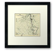 World War II Twelfth Army Group Situation Map October 17 1944 Framed Print