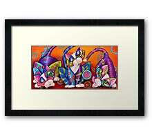 Party Animals Kitty Style Framed Print