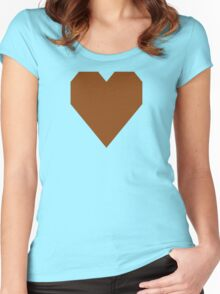 Saddle Brown  Women's Fitted Scoop T-Shirt