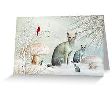 The Winter Cats Greeting Card
