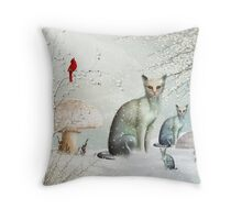 The Winter Cats Throw Pillow