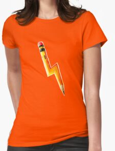 Pencil Lightning Womens Fitted T-Shirt