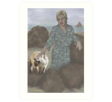 Jasmine goes to the beach with Aunt Pam Art Print