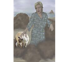 Jasmine goes to the beach with Aunt Pam Photographic Print