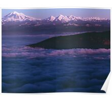 Mount Baker and The Twins, Cloudscape at Sunset Poster
