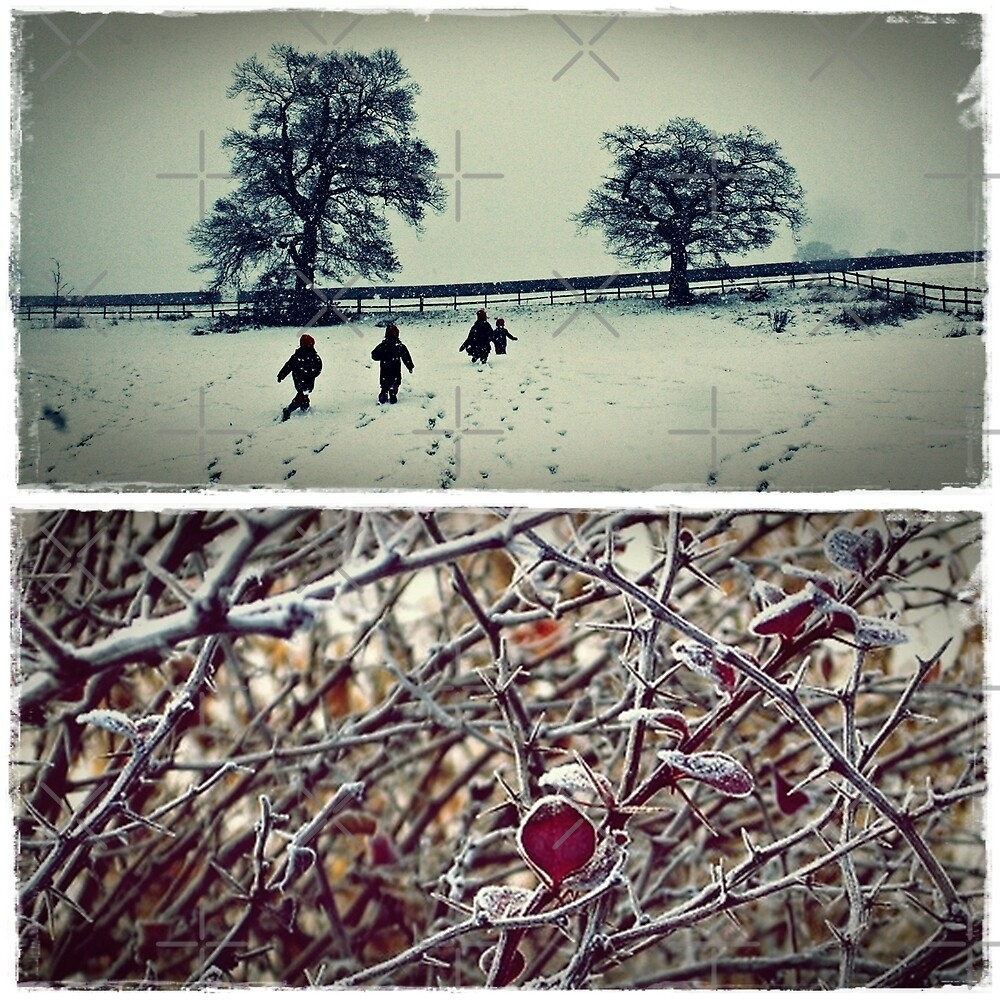 Goodbye England   covered in snow by Fiona Christensen