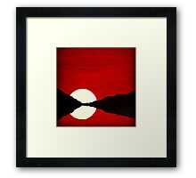 Blood Moon Setting Framed Print