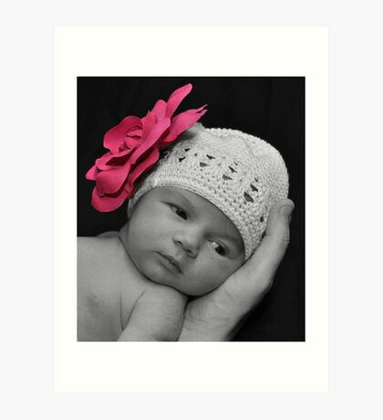 Pretty with a touch of pink Art Print