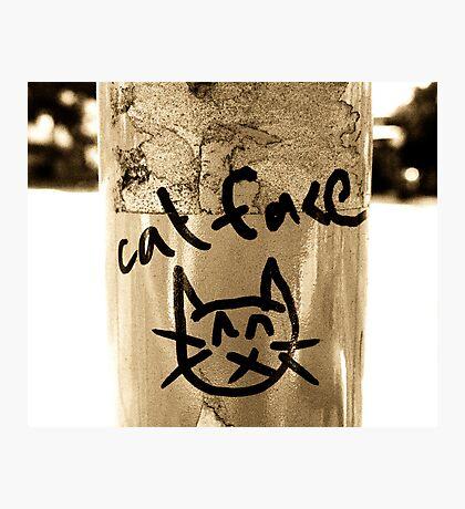 'Cat Face' Photographic Print