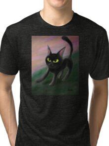 Kitty in riverside Tri-blend T-Shirt