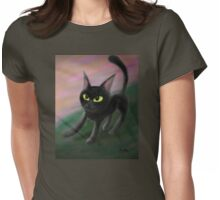 Kitty in riverside Womens Fitted T-Shirt