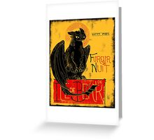 Fury of the Night - Vintage Edition Greeting Card