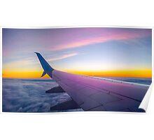 Plane flight Poster