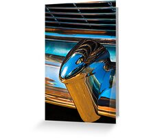 A section from a rear 1954 Chevrolet chrome bumper Greeting Card
