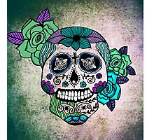 Sweet Sugar Skull blue edition Photographic Print