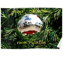 MERRY CHRISTMAS FROM FLORIDA Poster