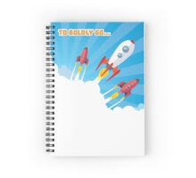 aunching of retro spaceship Spiral Notebook